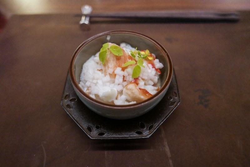 Norwegian King Crab, Fresh Tofu, Ginger