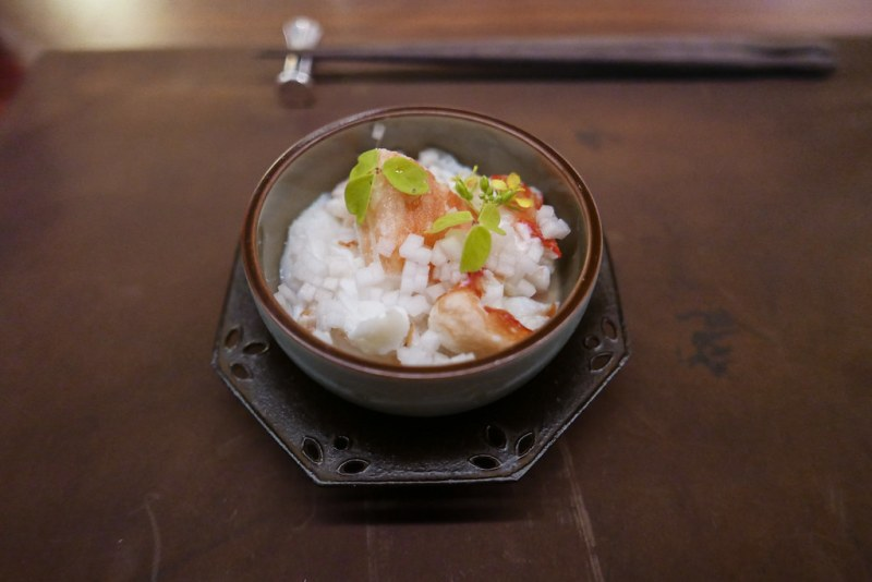 Norwegian King Crab, Fresh Tofu, Ginger