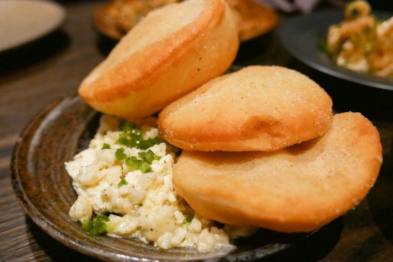 Aged Cheddar Rillettes - Truffle, cauliflower, fry bread ($15)