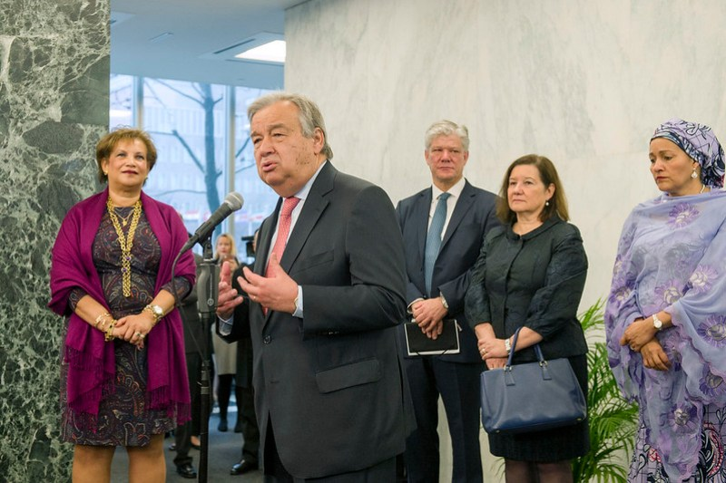UN Secretary-General's First Day at Work