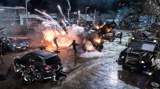 Bleeding Steel Explosion Scene