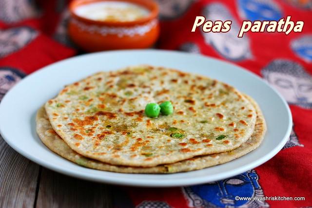 Peas- paratha recipe