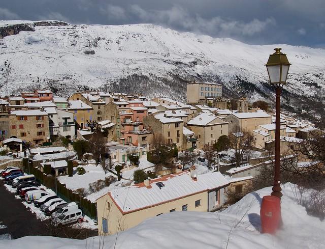 Cipières in the snow
