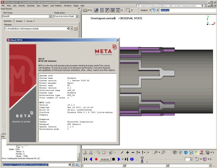 Working with BETA CAE Meta Post 18.1.0 full license