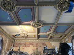 Ceiling detail, Clifton Mansion (1803), 2701 St. Lo Drive, Baltimore, MD 21213