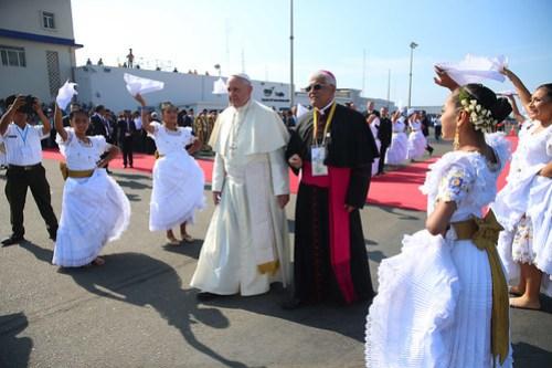 Llegada del Papa Francisco a Trujillo.Llegada del Papa Francisco a Trujillo.