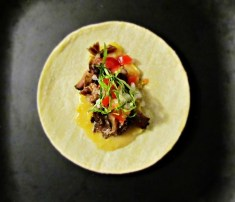 Slow Braised Beef Rib Taco