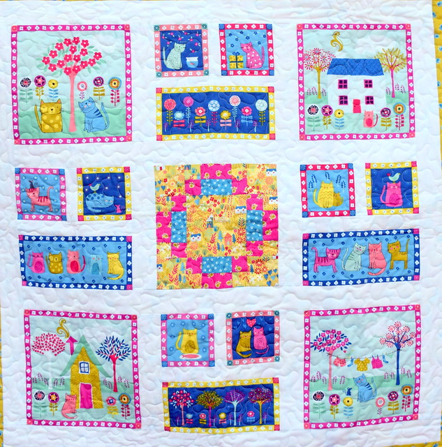 Kitty Cat Quilt (for Makower)