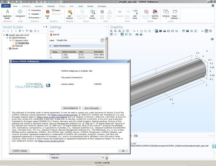 Working with Comsol Multiphysics 5.3a full license