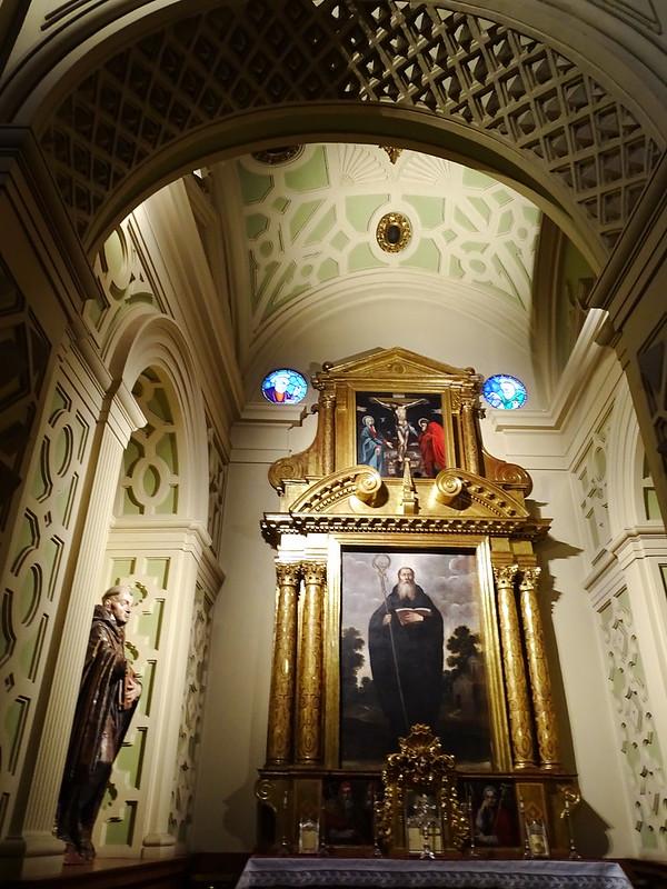 retablo de San Benito Abad de Juan de Rizzzi Capilla de Sandoval Catedral de Santa Maria La Real Pamplona