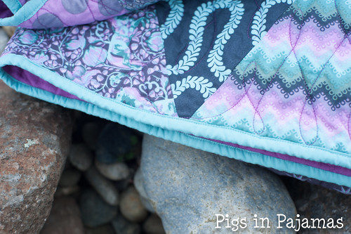 Tula Pink Triangles quilt 11