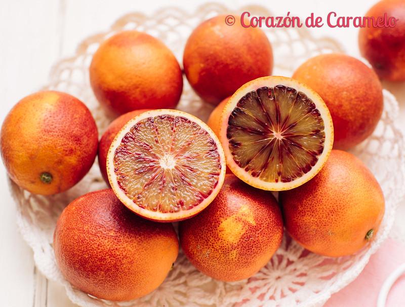 Bizcocho de naranjas sanguinas