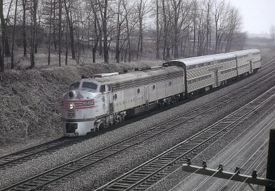 Four CB&Q E8s with Dinkeys in Lisle, IL