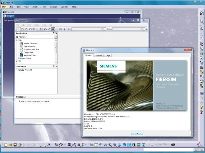 Working with Siemens FiberSIM 13.0.0 with CATIA V5 R18-R22 full