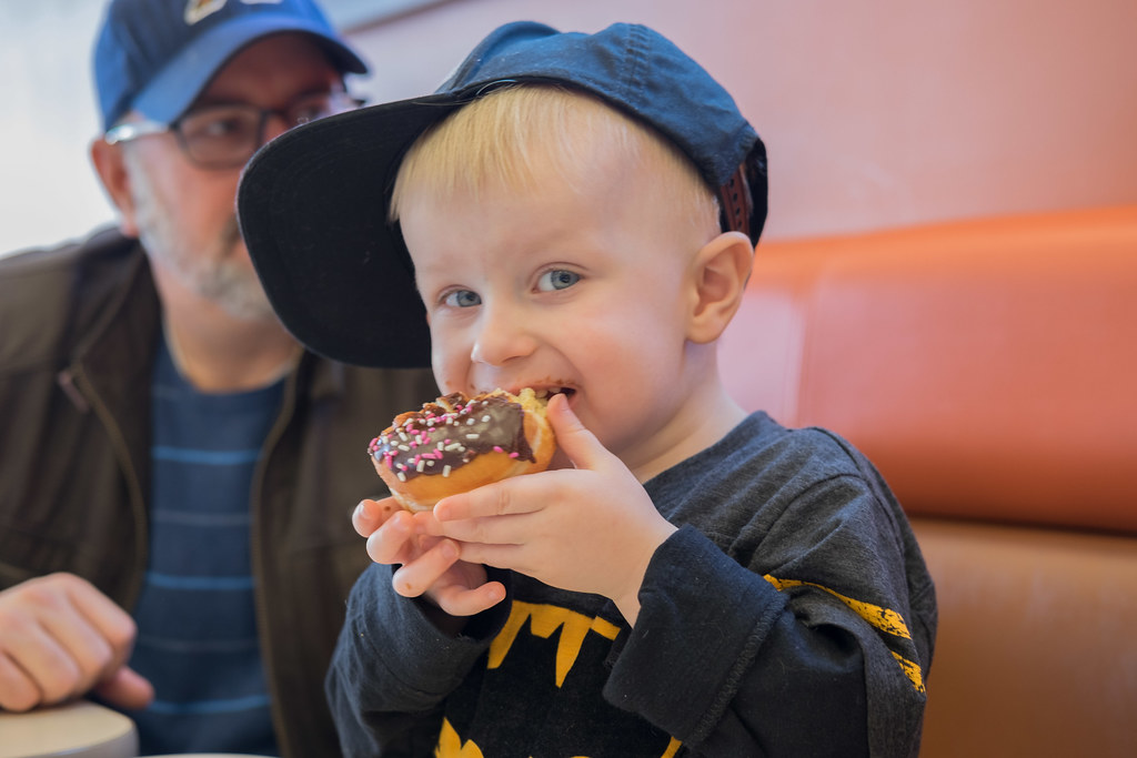 a boy and his donut
