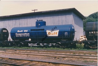 Gulf Oil Blue tank car 2