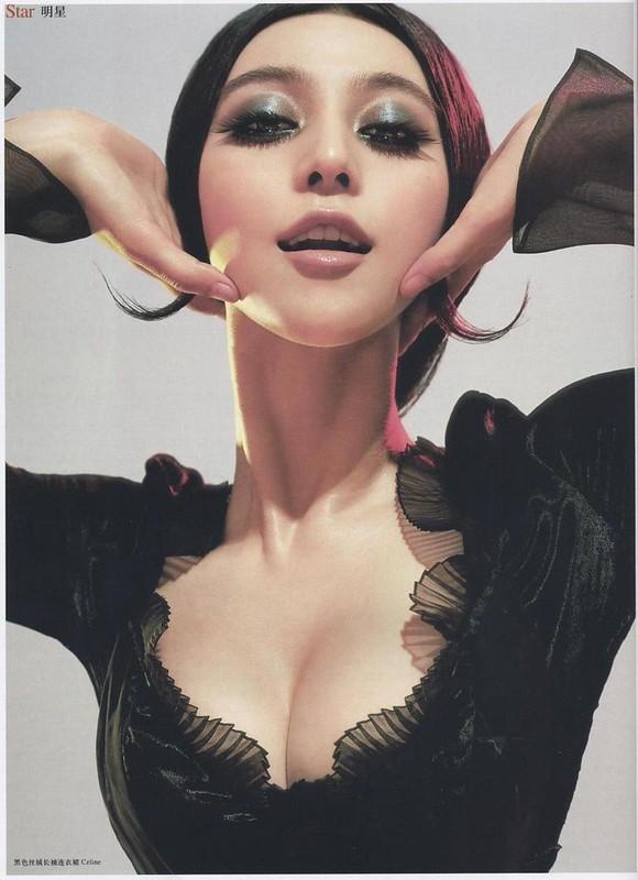 黒色ベルベット地の長袖ドレス : ファン・ピンピン ロフィシェル 第166号 2006年7月号 チェン・マン チャン・タン