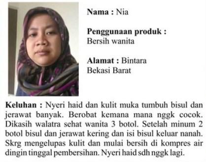 Testimoni Produk Walatra Bersih Wanita
