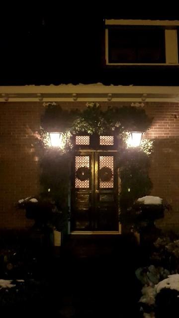 Voordeur kerstversiering