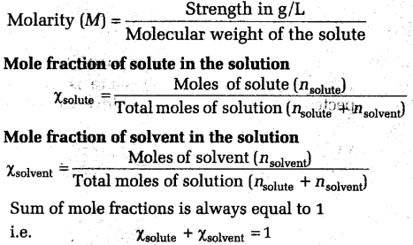 NEET Chemistry Notes Solutions - Solutions in Chemistry