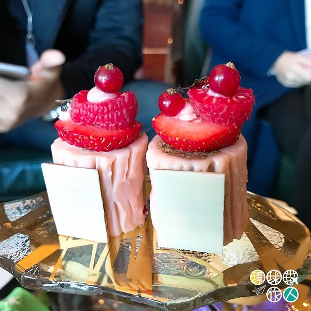 紅莓朱古力樹幹蛋糕