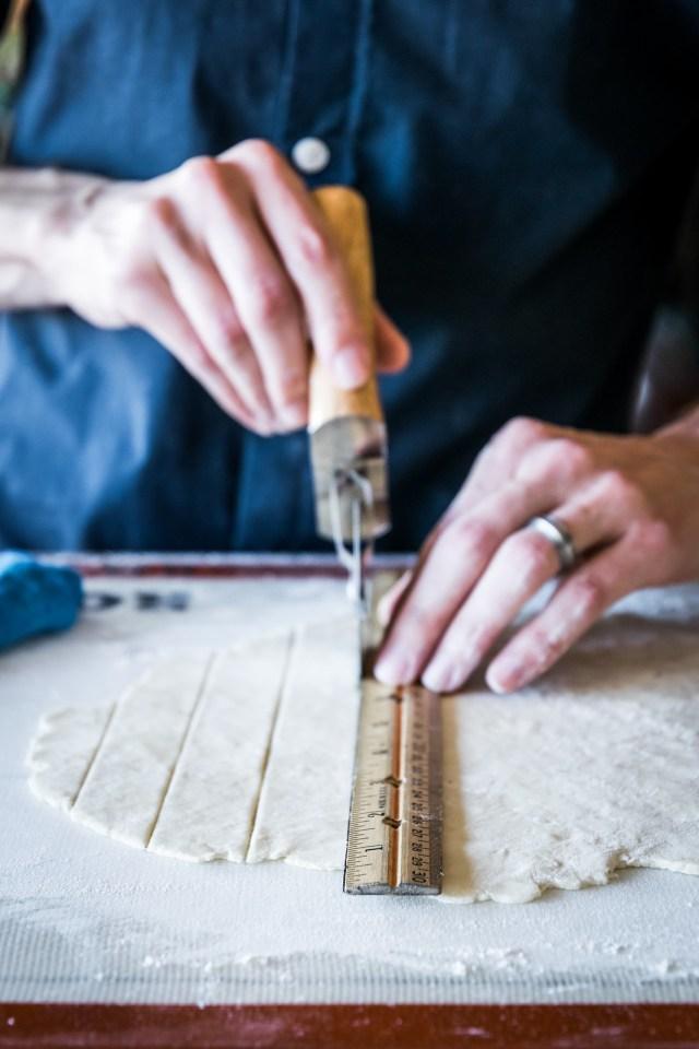 pizza cutters make great pie dough cutters too