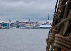 Tallinn from a Tall Ship