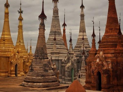 colorful pagodas