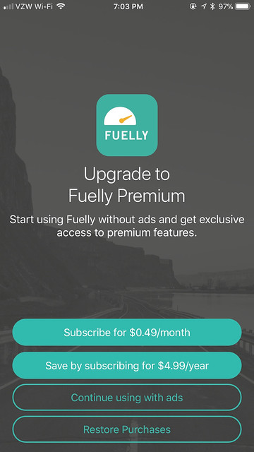 GasTracker / Fuelly Subscription