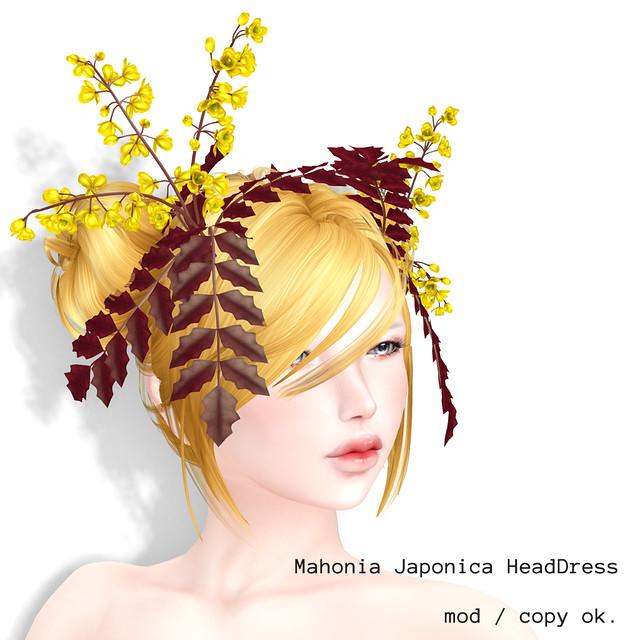 *NAMINOKE*MahoniaJaponica Headdress-red