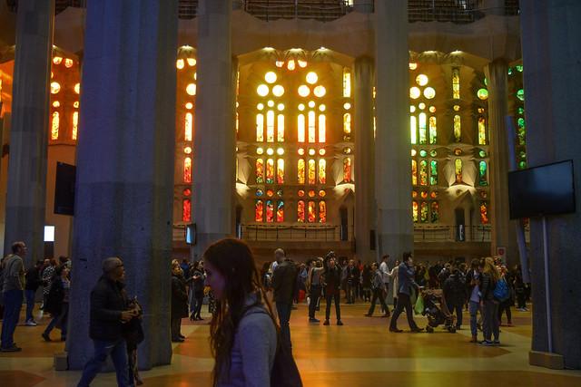 Sunset in La Sagrada