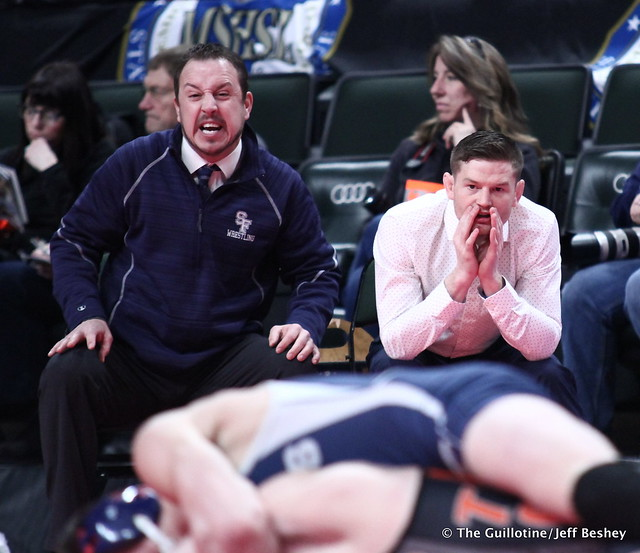 St. Francis coaches. 180303AJF0355