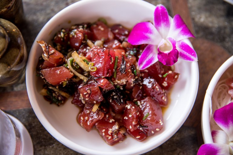 house without a key Local Yellow Fin Tuna Poke