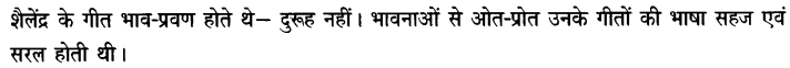 Chapter Wise Important Questions CBSE Class 10 Hindi B - तीसरी कसम के शिल्पकार शैलेंद्र 5a