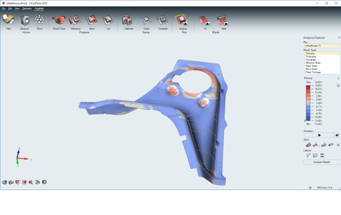 Simulation with solidThinking Click2Form 2018.0.855 full crack