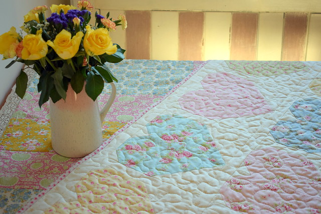 Hearts Full of Roses Quilt (for Rose!)