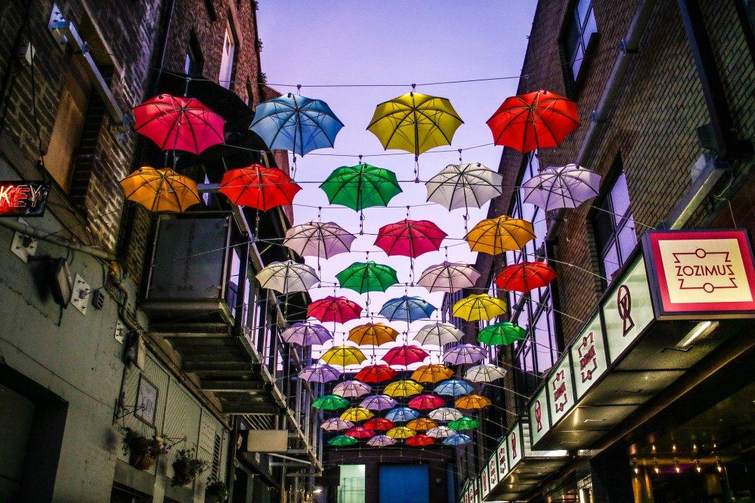 Ombrelli a Dublino