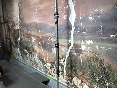Wall mural detail, Clifton Mansion (1803), 2701 St. Lo Drive, Baltimore, MD 21213