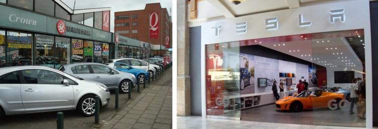 Car dealership - old vs new