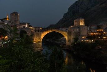 's Avonds bij mijn Bosnian Plate (een grote berg vlees op een bord) had ik ook weer mooi uitzicht.