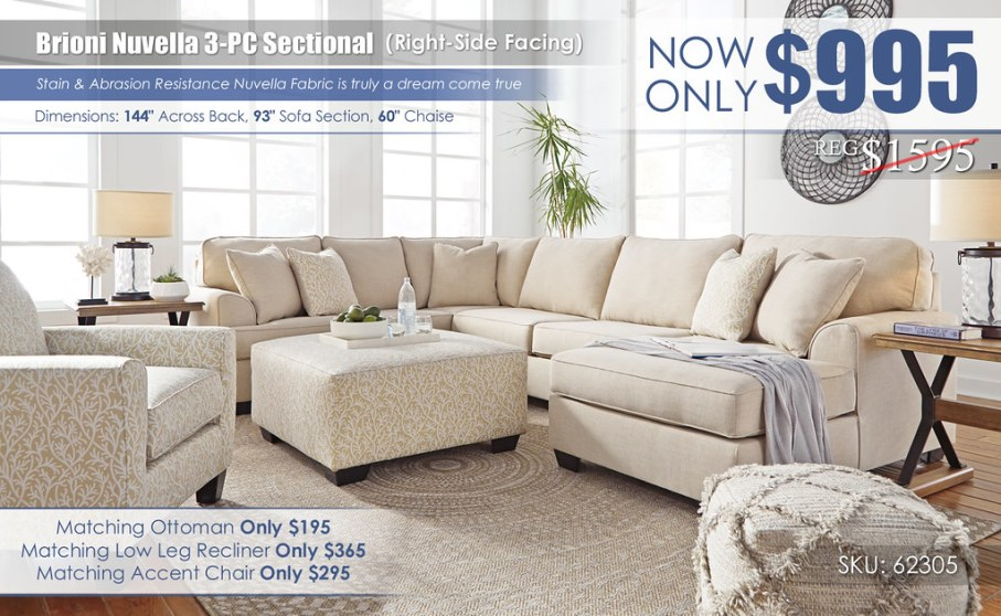 Brioni Nuvella RSF 3PC Sectional_62305-66-34-17-94705-08-21