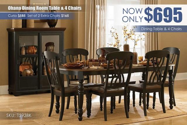 Ohana White Dining Room Set_1393BK