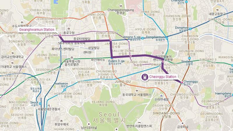 5 hari di Seoul - Rute Subway Seoul 1