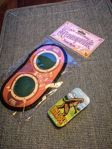 Steampunk Sleep Mask and Bigfoot Mints