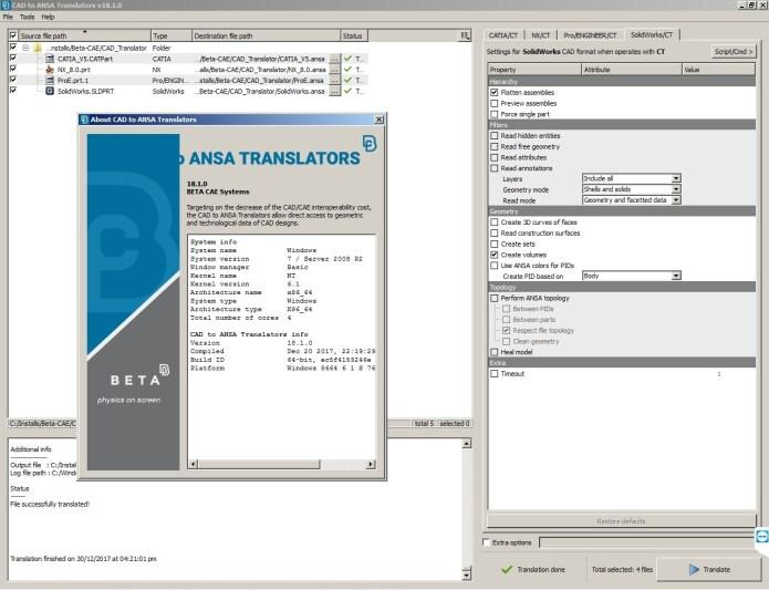 Working with BETA CAE CAD Translator 18.1.0 full