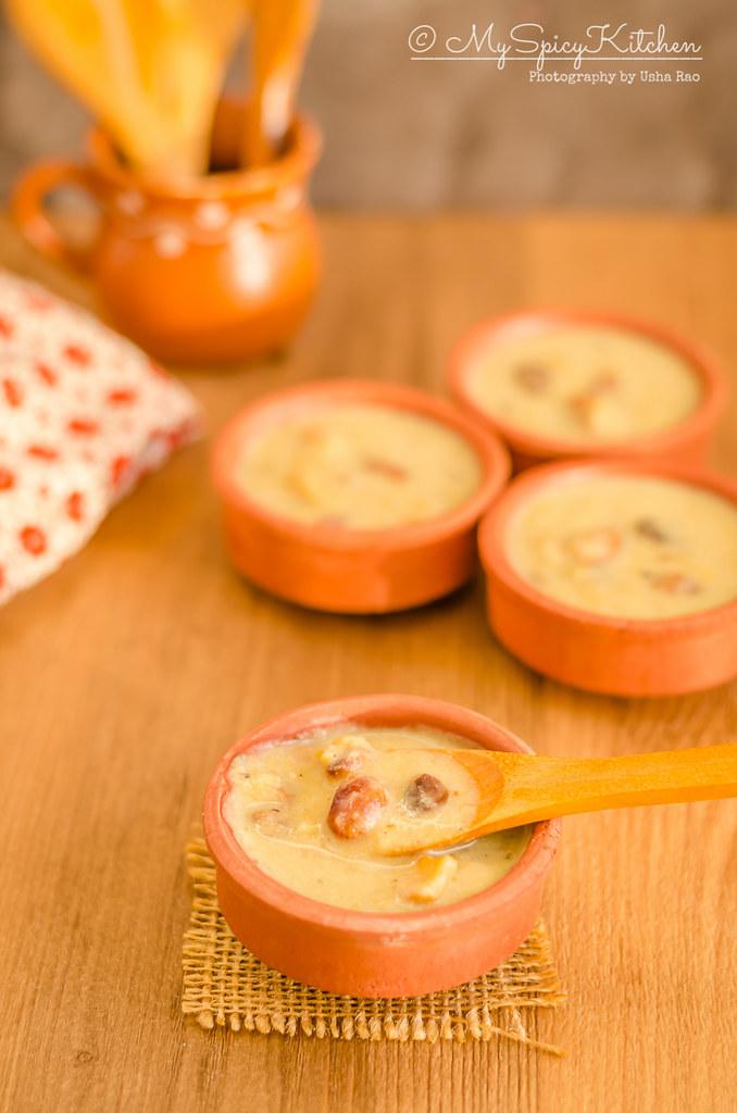 Bowls of Moong Dal Paysam, Green gram pudding