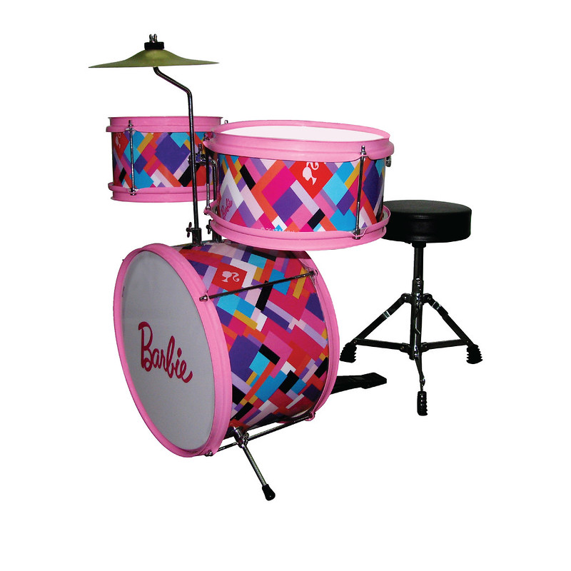 BARBIE DBA DRUM SET PRINTED    CHECKERED