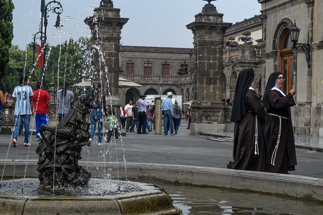 Nuns at Chapultepec Castle