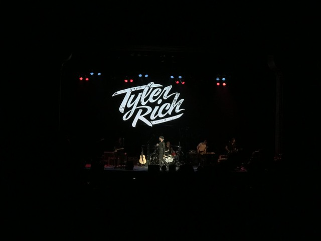 Tyler Rich on stage in Stockton