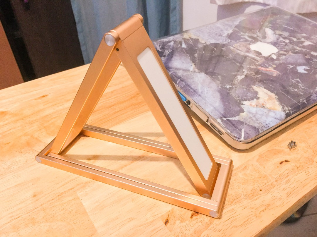 Geometric LED Desk Lamp from Paper Blush   The Ber Haul